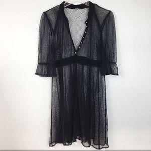 Free People Black Coverup Dress Size M